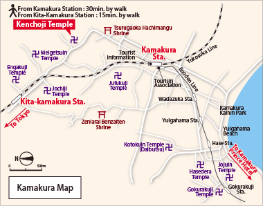 Kamakura Station Map TFOS ASIA  1st Conference on the Tear Film and Ocular Surface in